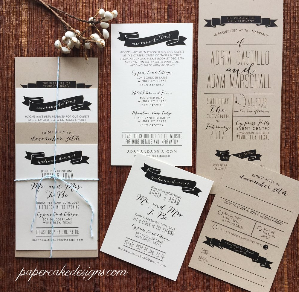 custom designed wedding invitation suite - Yelp