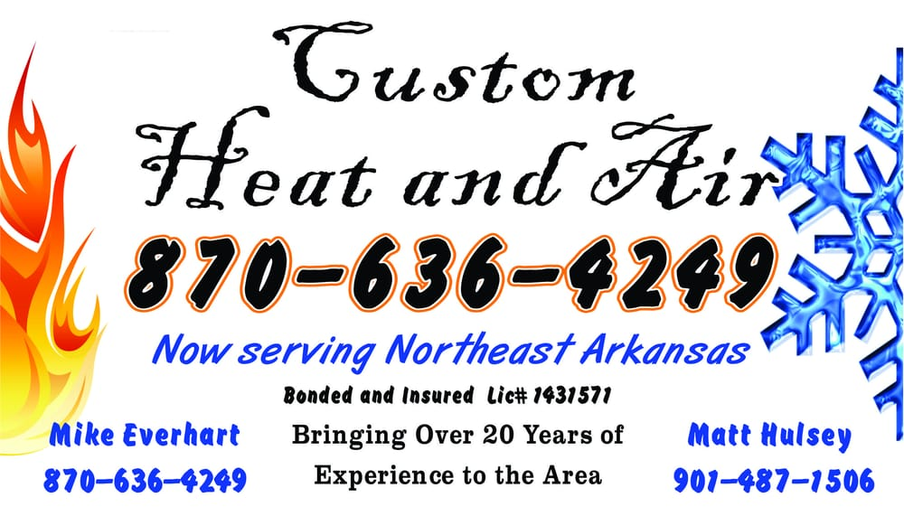 Custom Heat and Air: 2791 New Hope Rd, Tyronza, AR