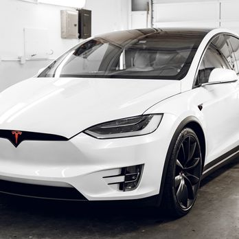 Tesla Model X Window Tint Xpel Full Front End Paint