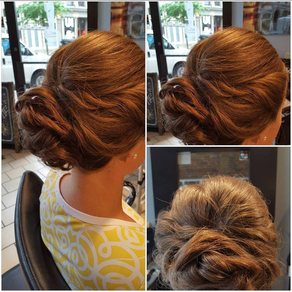 wedding hair, bridesmaid hair, on site hairstylist, updo, formal