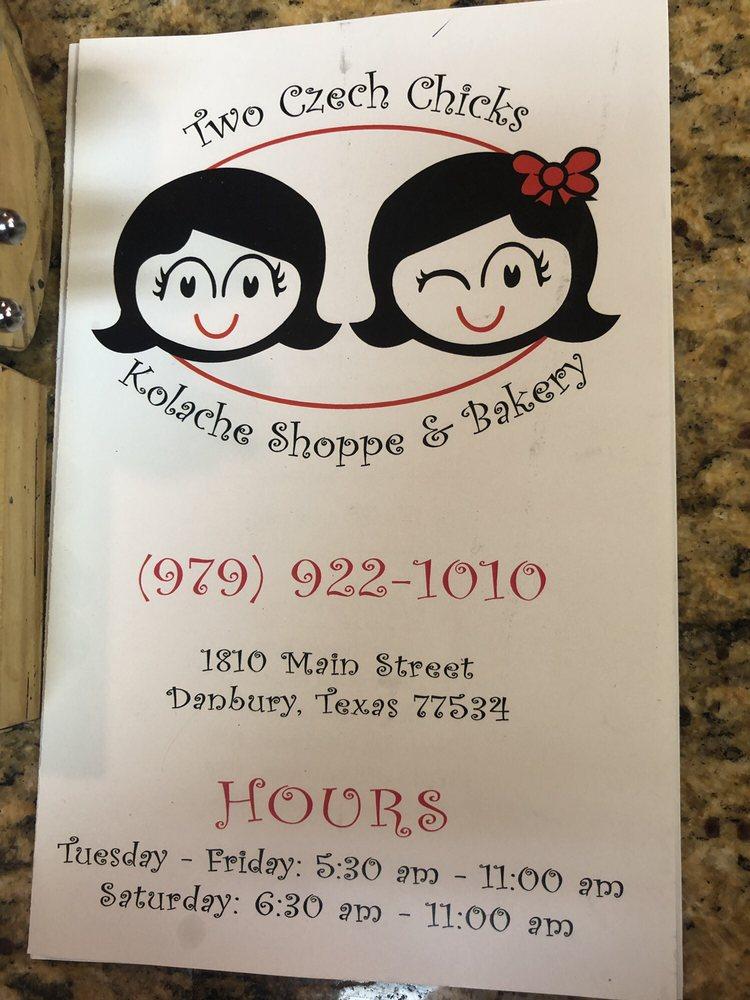 Two Czech Chicks Kolache Shoppe & Bakery: 1810 Main St, Danbury, TX