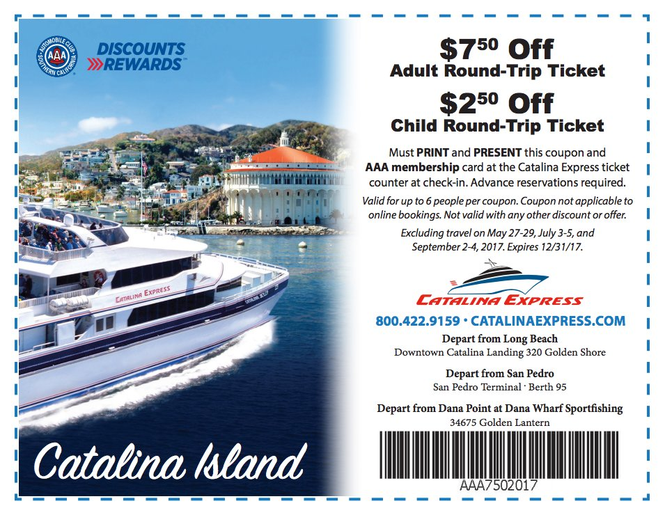 Catalina express discount coupon