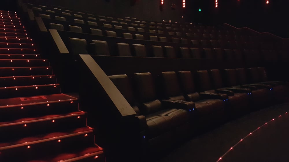 Amc prime theatre with reclining seats and a subwoofer in - Jersey gardens mall movie theater ...