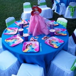 Ariel, little mermaid, princess theme birthday party table set up ...