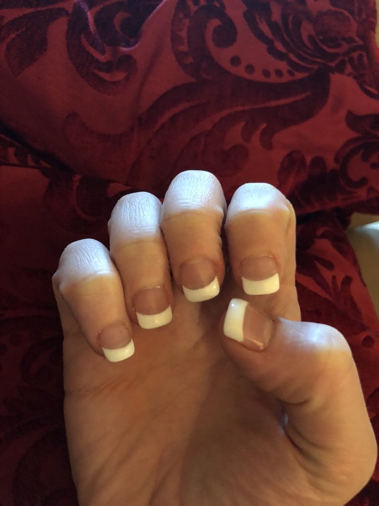 I bite my nails so this is why they are so short. I got powder gel ...