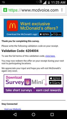 mcdvoice.com application