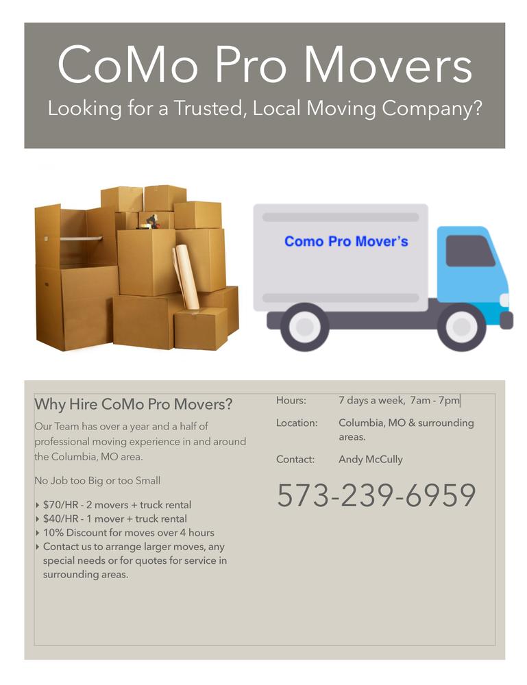 Como Pro Movers: Columbia, MO