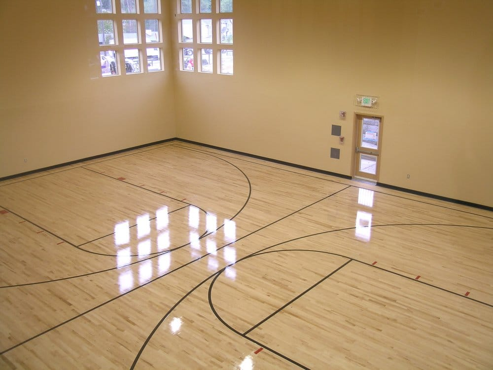Indoor full size basketball court yelp for Indoor basketball court dimensions