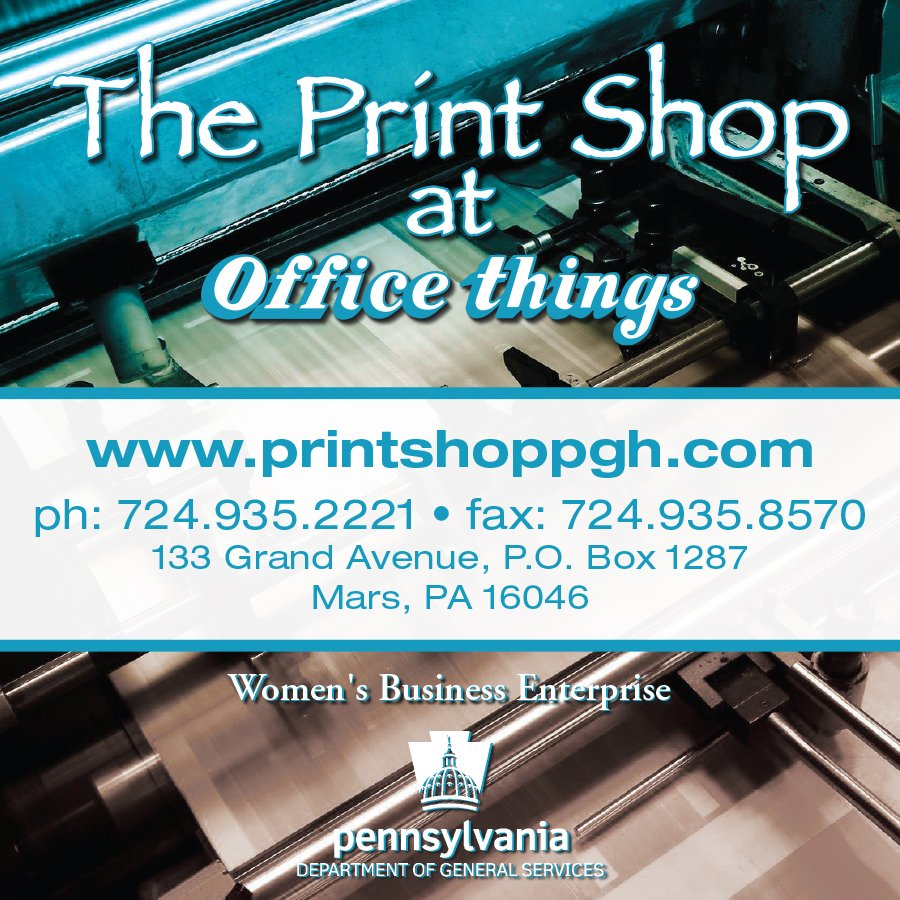 The Print Shop At Office Things: 133 Grand Ave, Mars, PA