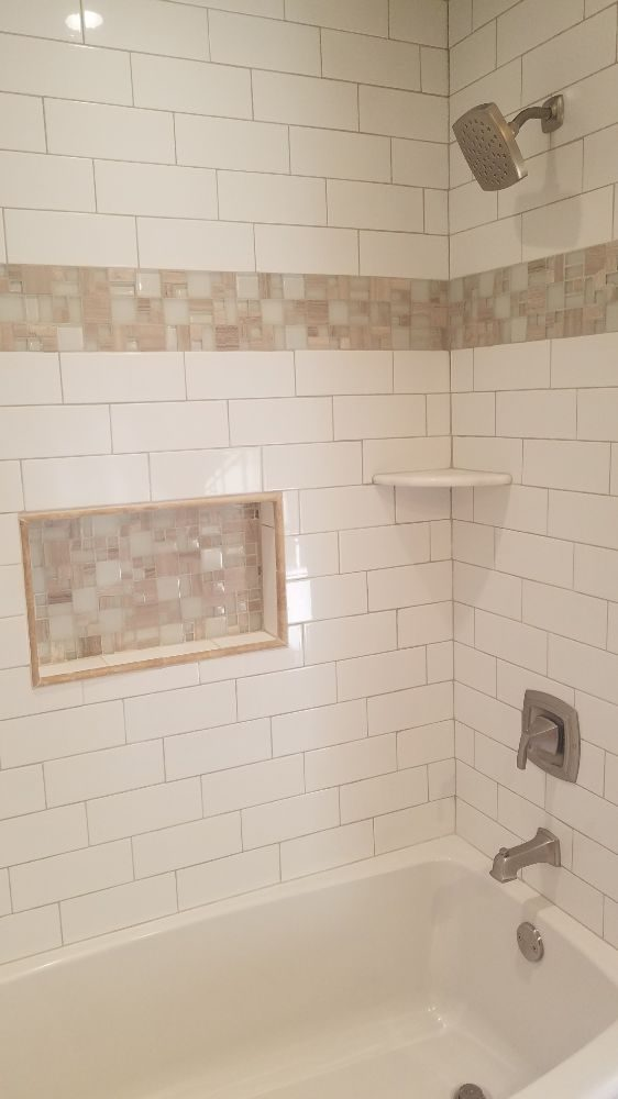 New Tub Fixtures Surround And Nook Ceramic Subway Tile
