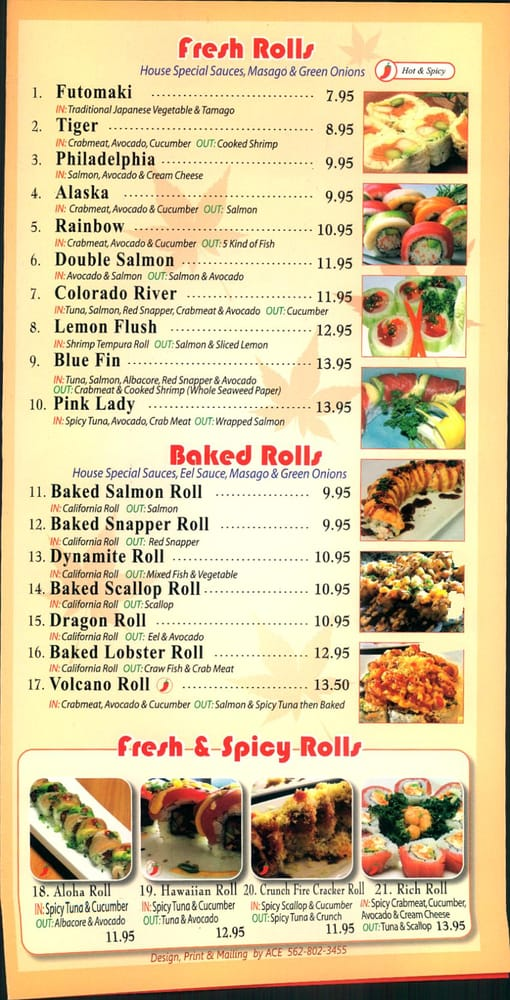 Here is the menu i couldn 39 t find it anywhere so i thought for Blue fish sushi menu