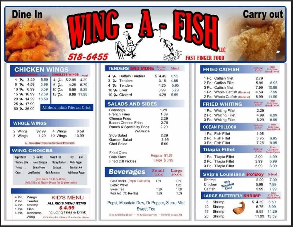 Menu yelp for That fish place coupon
