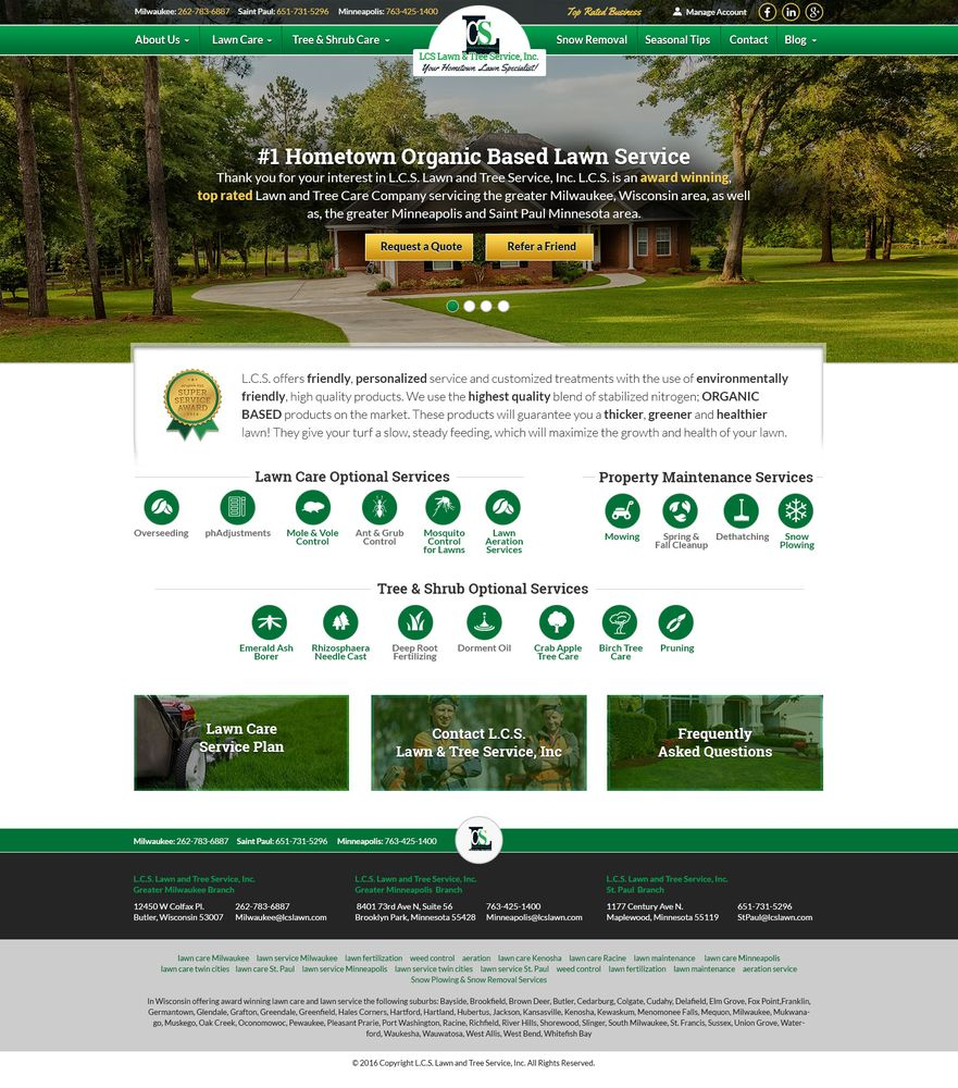 LCS Lawn & Tree Service: 1177 Century Ave N, Maplewood, MN
