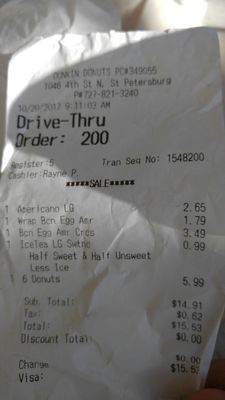 Dunkin' Donuts - 59 Reviews - Donuts - 1046 4th St N, St