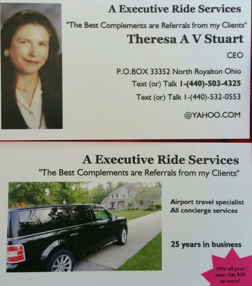 A Executive Ride Service: 13901 State Rd, North Royalton, OH