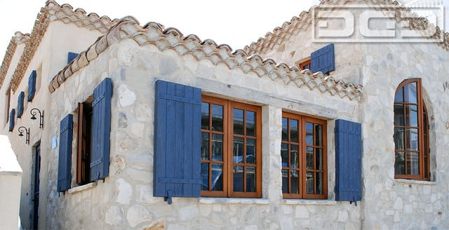 Blue Shutters For A Tuscan Style Home Fabulous Decorative