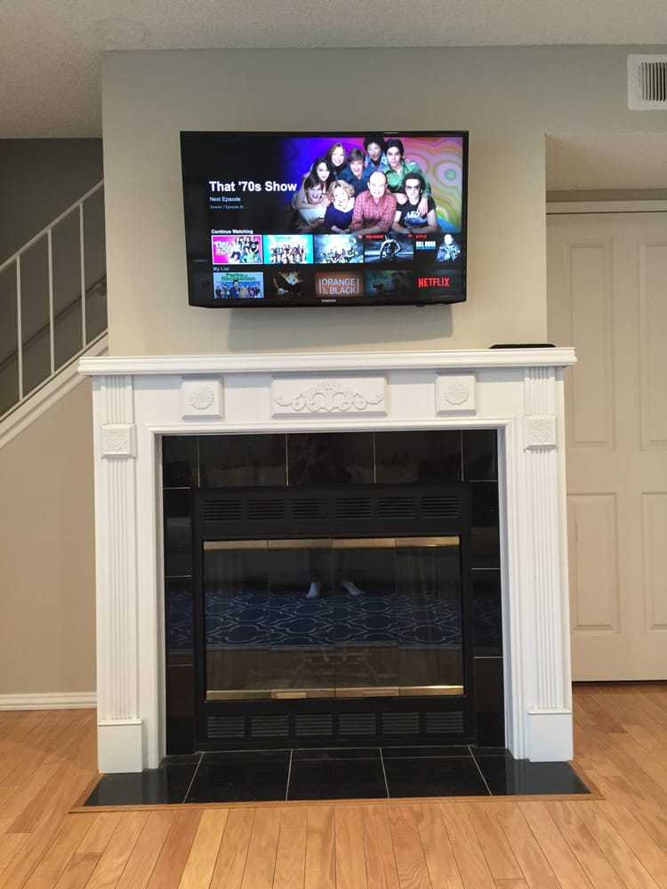 Fine Finished Tv Mount Above Fireplace Yelp Download Free Architecture Designs Ogrambritishbridgeorg