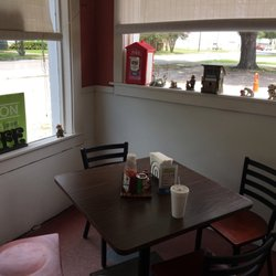 Photo Of Firehouse Cafe Crowley La United States Corner Table With Fire