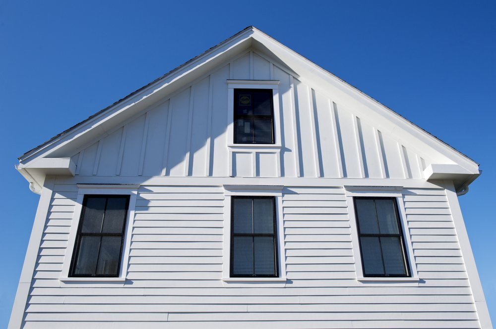 James Hardie Lap Siding In Arctic White With Their Board