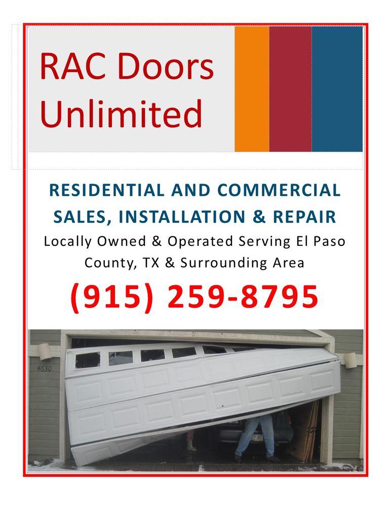 RAC Doors Unlimited: 6250 Modesta Rd, El Paso, TX