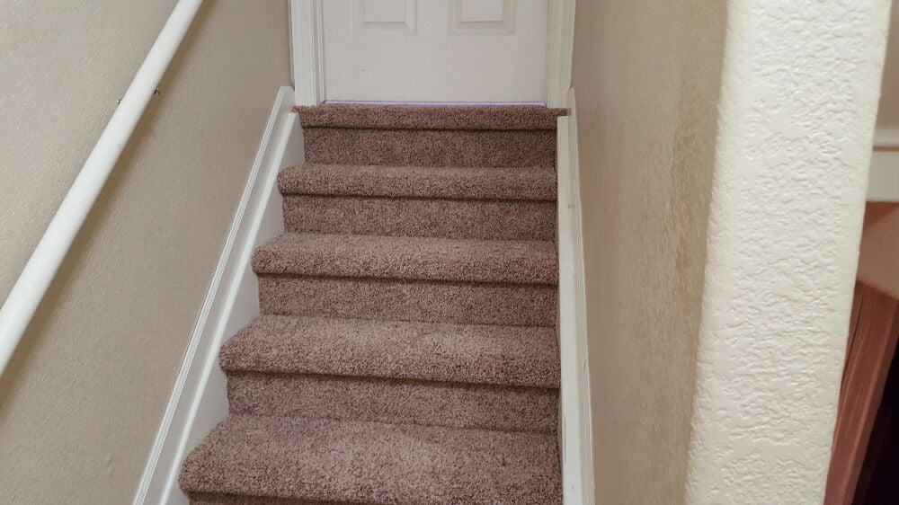 Darker Carpet On Stairs