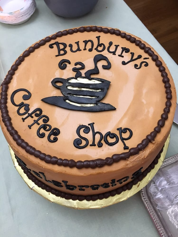 Bunbury's Coffee - Piermont, NY, United States. Cant comment on the coffee but Bunbury's will always be a special place for us.... Cake for our engagement party.