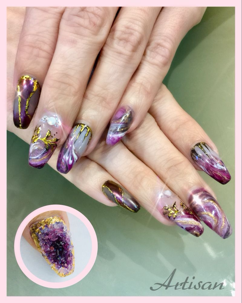 Geode Nail Art by Melissa - Yelp