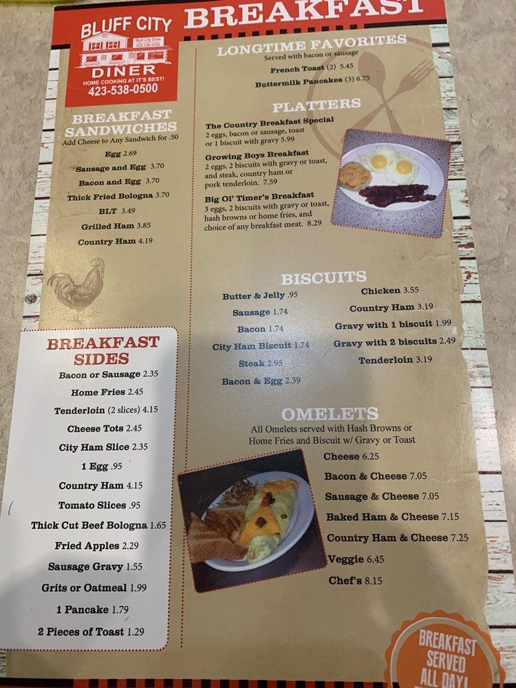 Bluff City Diner: 4267 Bluff City Hwy, Bluff City, TN