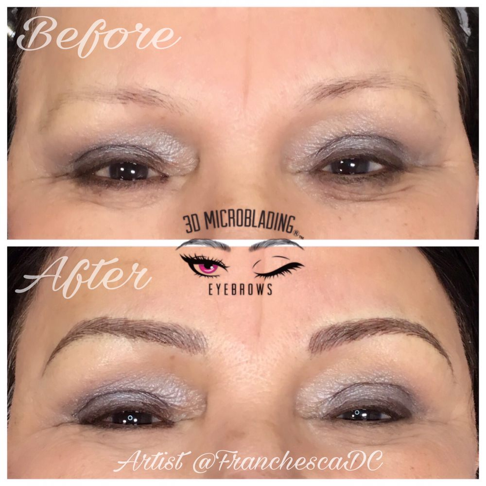 3D Microblading Eyebrows before and after. - Yelp