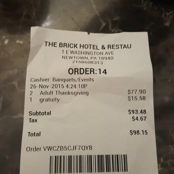 photo of the brick restaurant newtown pa united states speaks for itself