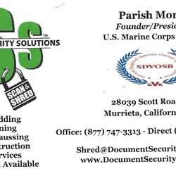 document security solutions shredding services 28039 With document shredding murrieta ca