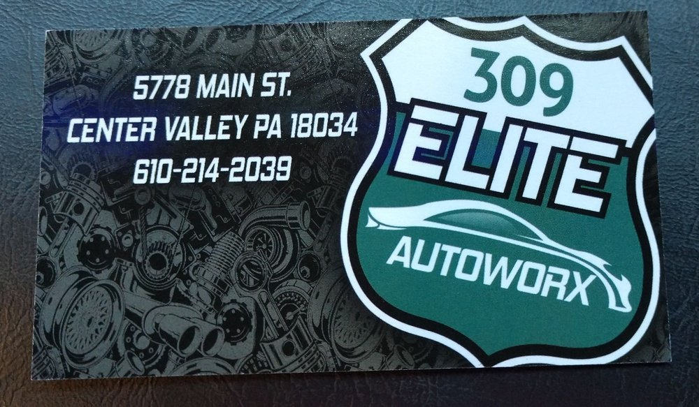 309 Elite Autoworx: 5778 Main St, Center Valley, PA