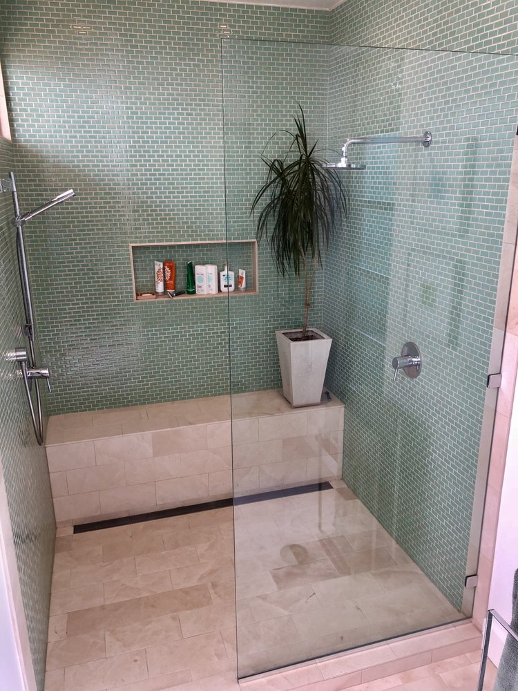 Hy Lite Added A U Channel To Secure Our Shower Glass Panel.   Yelp