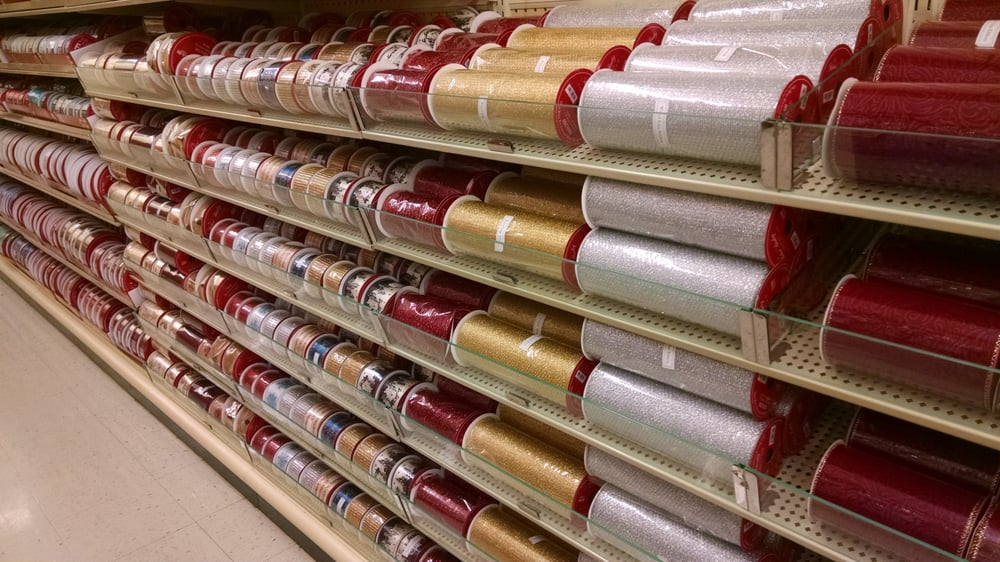 Christmas wrapping paper and ribbon, best selection is now! - Yelp