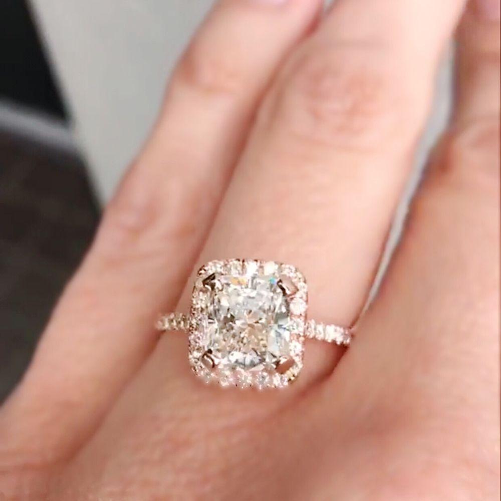 Photo Of Shapiro Diamonds  Dallas, Tx, United States Cushion Cut Diamond  Ring