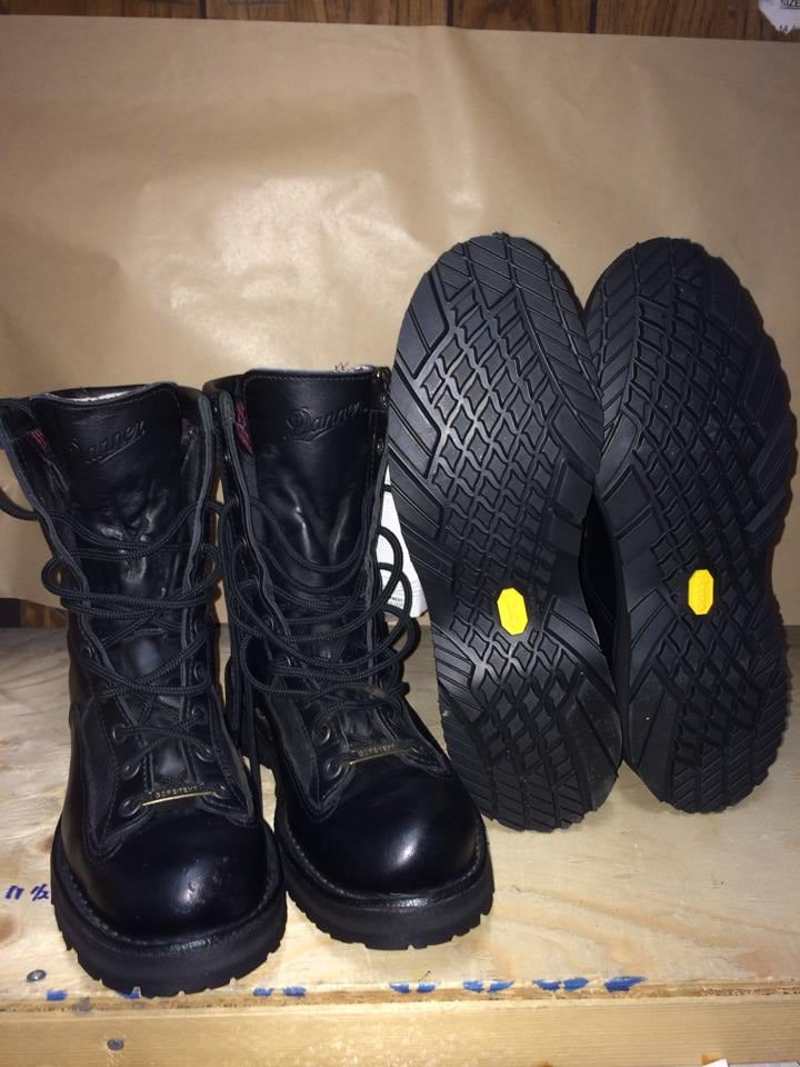 Newporter Vibram soles installed on Danner boots. - Yelp
