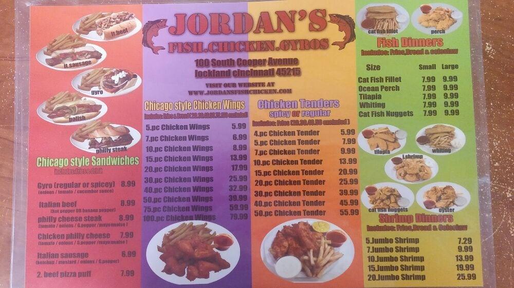Jordan's Fish, Chicken & Gyros: 101 S Cooper Ave, Cincinnati, OH