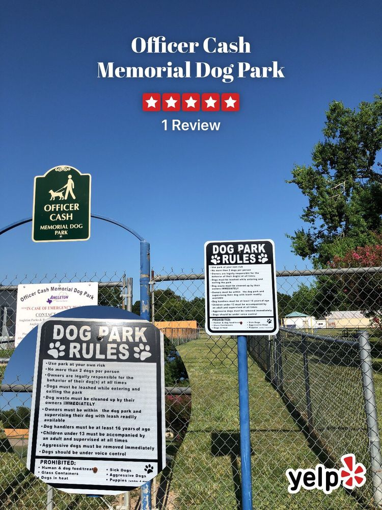 Officer Cash Memorial Dog Park: 535 S Anderson St, Angleton, TX