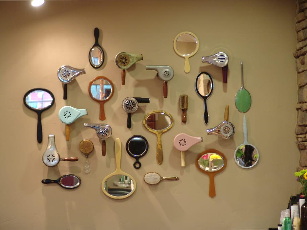 The infamous one of a kind vintage blowdryer hand mirror for Photo salon