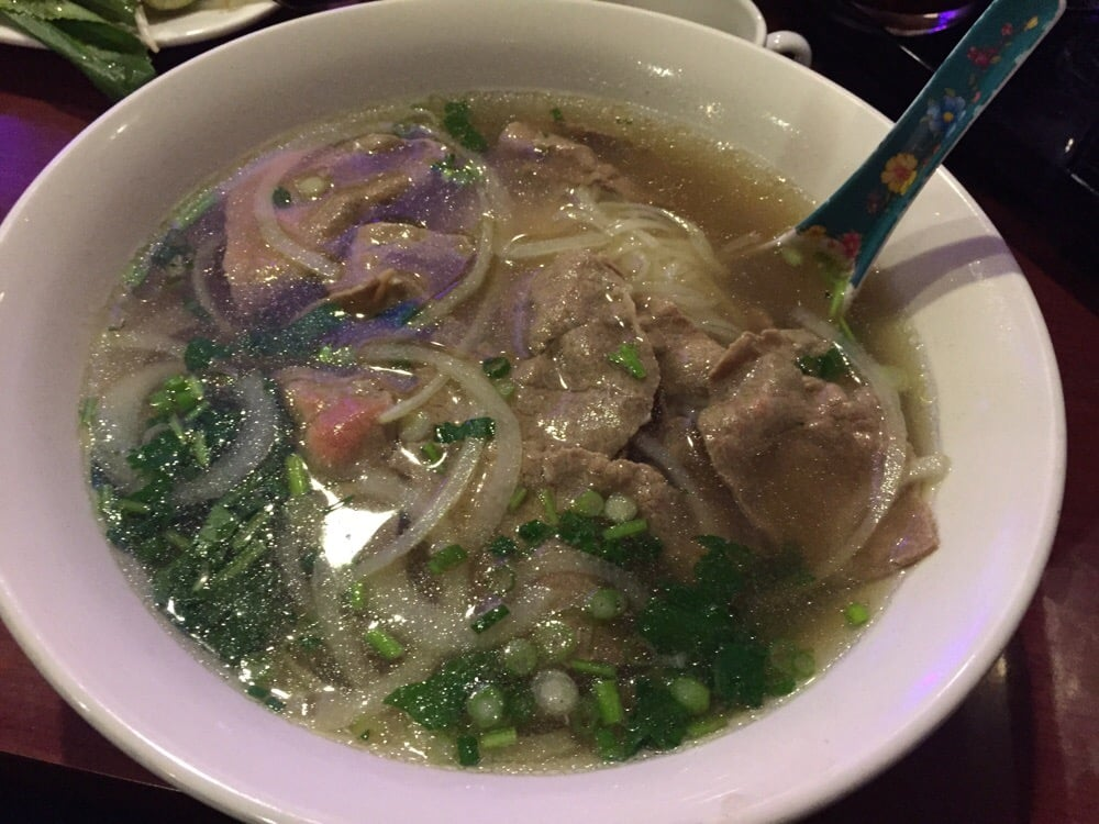 Before adding all the fresh goodies and sriracha and - Vietnamese cuisine pho ...