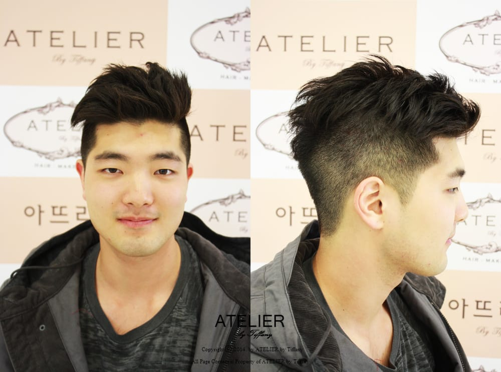 Men S Two Block Style Hair Cut By Atelier By Tiffany Yelp