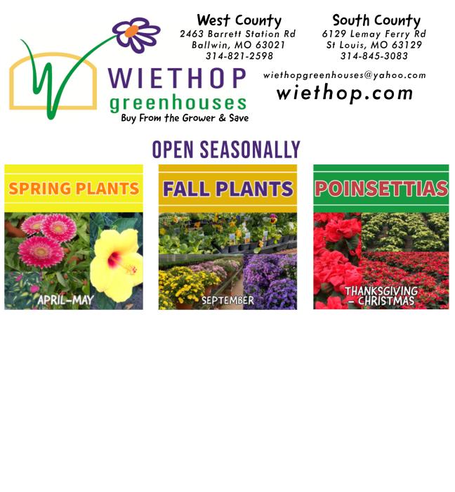 Wiethop Greenhouses: 2463 Barrett Station Rd, Manchester, MO