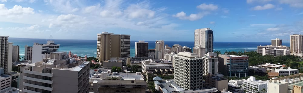View from the 27th floor good morning waikiki yelp for Kuhio motors service department