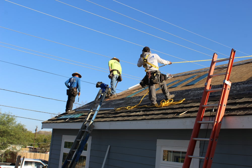 Crew Installing A Metal Shake Roof From Decra Yelp