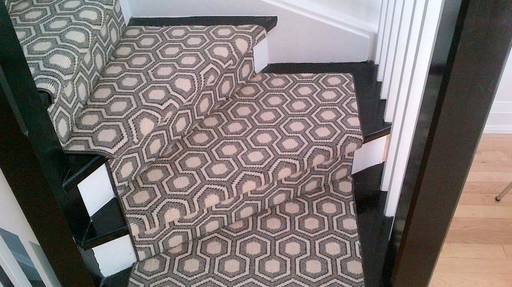 Wool Carpet With Geometric Design Stair Runner Toronto   Yelp