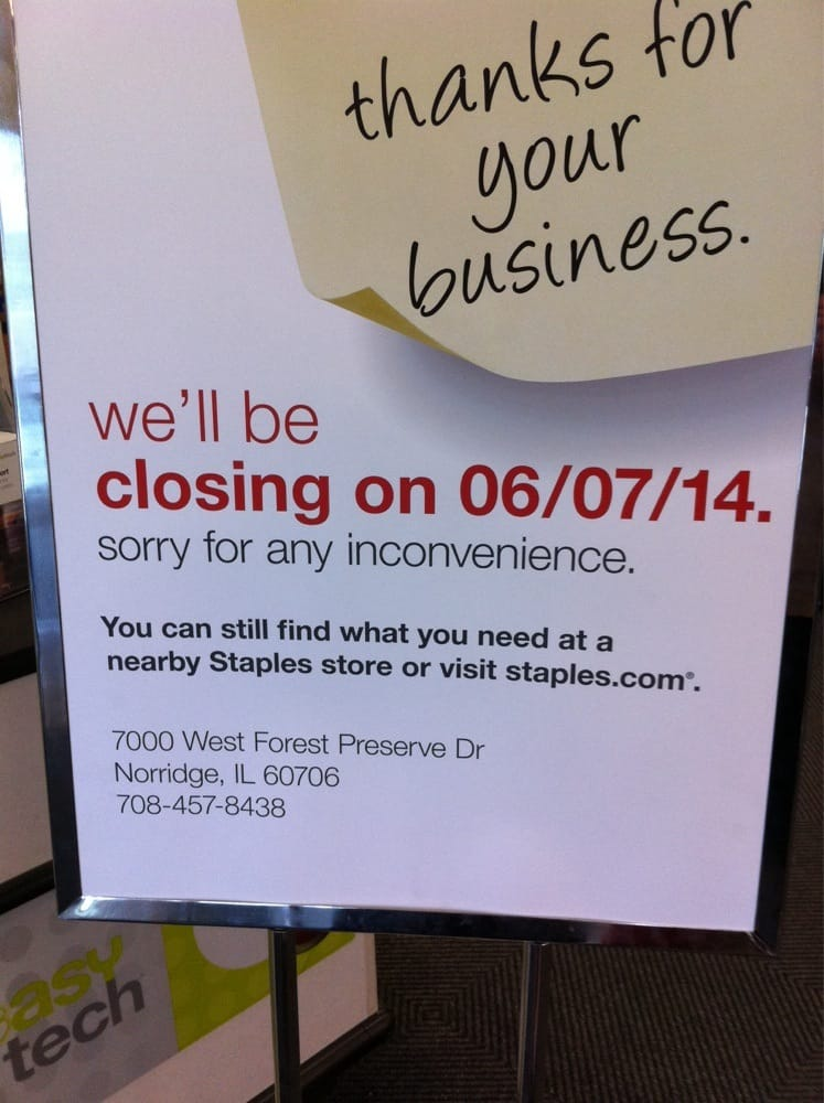 Staples - CLOSED - Office Equipment - 1850 N Harlem Ave, Galewood ...