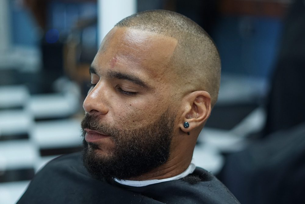 Haircut By The Talented Manny Marquez Beard Trim And A Line Up With