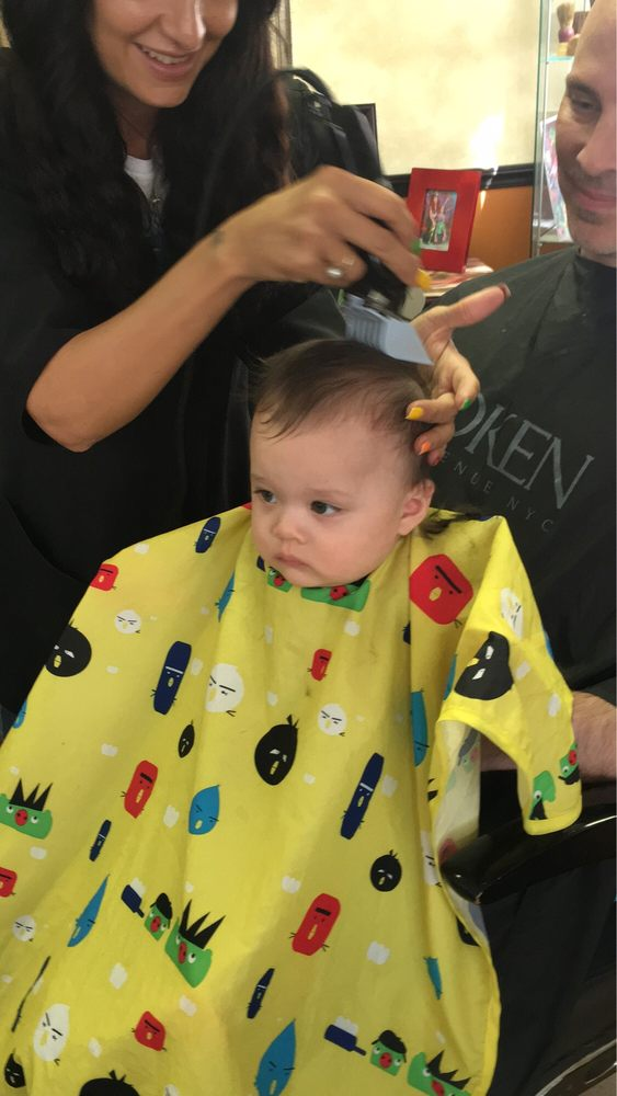 My Little 7 Months Old Baby Boy Getting His First Hair Cut Yelp