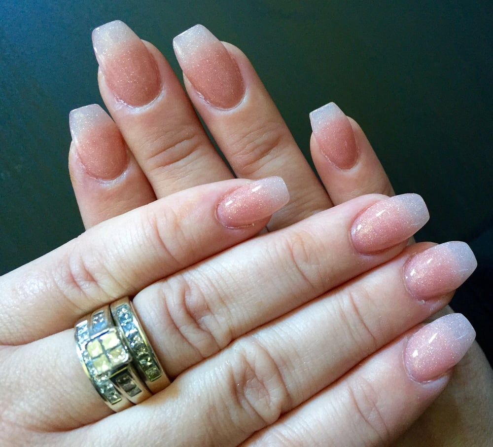 SNS nails by Andy. Coffin shape natural color. He\'s a pro and always ...