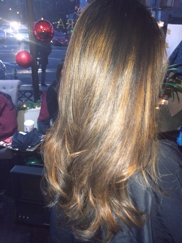 Balayage By Roxy Hair Formerly Black Hair Into Ashy Brown
